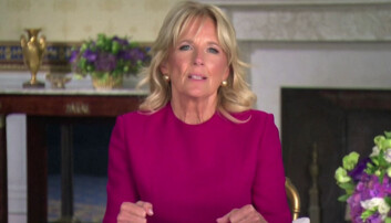 Dr Biden also spoke at the event