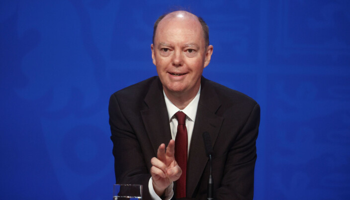 Chief Medical Officer for England Chris Whitty, during a media briefing in Downing Street.