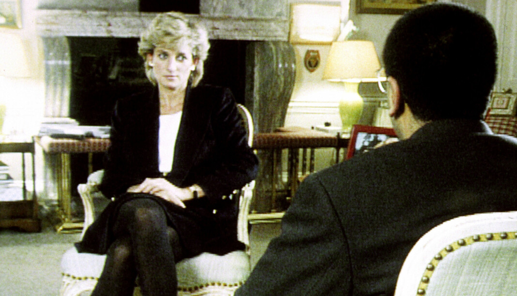 Diana, Princess of Wales during her Panorama interview with Martin Bashir for the BBC.