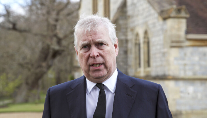 The Duke of York during a television interview at the Royal Chapel of All Saints, Windsor.