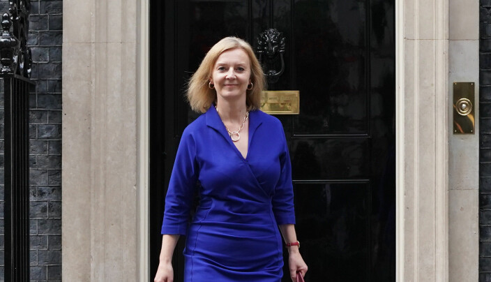 Newly-appointed Foreign Secretary Liz Truss leaves Number 10 Downing Street.
