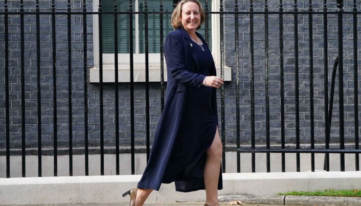 Newly appointed International Trade Secretary Anne-Marie Trevelyan leaves Downing Street.