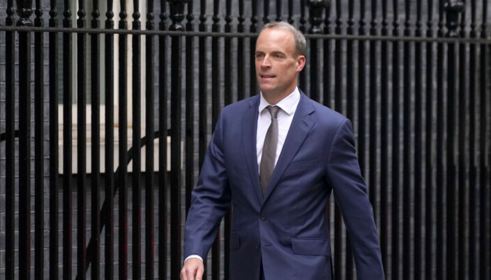 Foreign Secretary Dominic Raab arrives in Downing Street, London, as Prime Minister Boris Johnson carried out a Cabinet reshuffle.