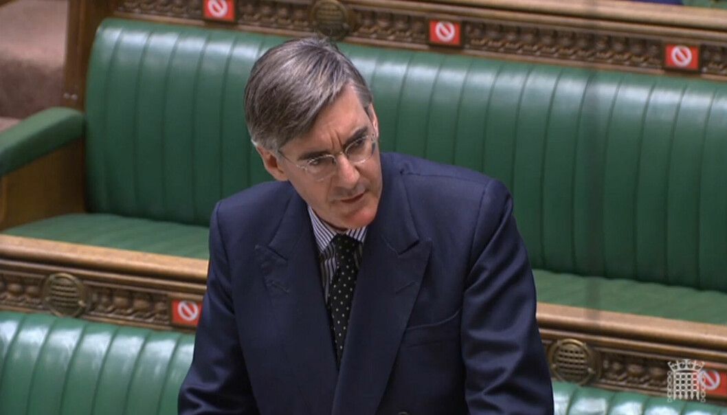 Jacob Rees Mogg answering questions in the House of Commons, London, during a motion on parliamentary proceedings during the pandemic. The motion sets out the need for MPs to vote in person again during the ongoing coronavirus disruption.