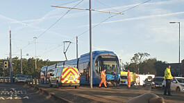 Wolverhampton tram crash: Pregnant teenager with 'life-threatening' head injuries following car collision with tram
