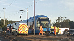 Pregnant teenager with 'life-threatening' head injuries following car-tram crash in Wolverhampton