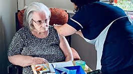 First UK Covid-19 booster jabs for care home residents given in Wales