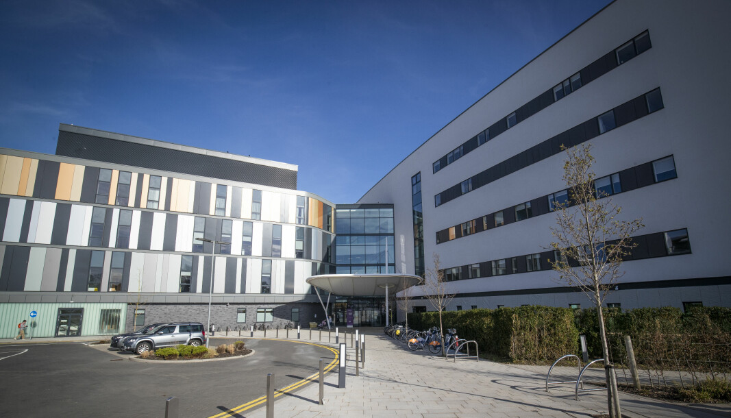 Main entrance to the new Royal Hospital for Children and Young People Edinburgh.