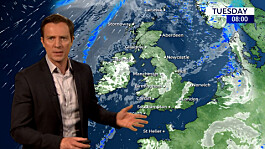 Weather: Becoming cloudy and windy far North west, elsewhere fine and warm