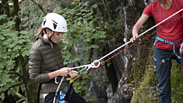 Duchess of Cambridge tries out abseiling in Lake District