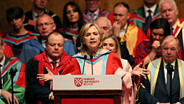Hillary Clinton to be installed as chancellor of Belfast university