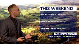 Cloudy weekend ahead with more sunshine on Sunday