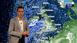 Weather: Band of rain moving across the UK, drier tomorrow
