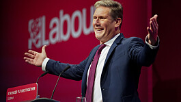 Keir Starmer faced chants of 'shame' and heckles during speech