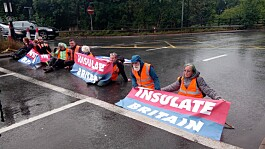Insulate Britain activists block motorway for 10th day in the past three weeks