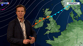 Weather: Wet in the northwest, fine elsewhere with some fog, warm