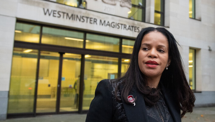 Leicester East MP Claudia Webbe leaving Westminster Magistrates Court, London, after appearing charged with one count of harassment of a female between September 1, 2018 and April 26, 2020.