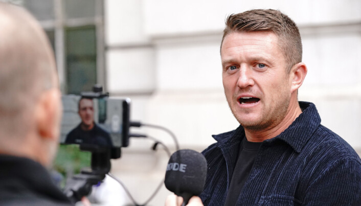 Tommy Robinson arrives at Westminster Magistrates' Court in London for a hearing regarding the stalking of a journalist. Picture date: Wednesday October 13, 2021.