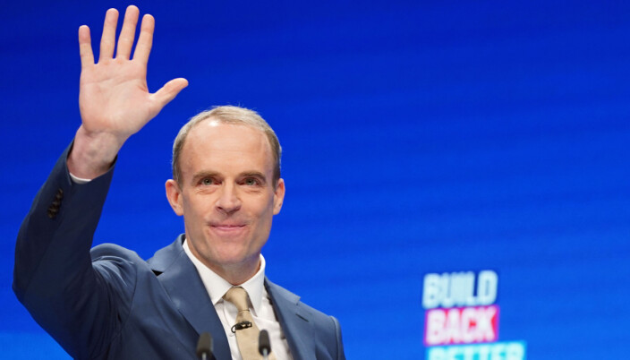 Lord Chancellor Dominic Raab during the Conservative Party Conference in Manchester.